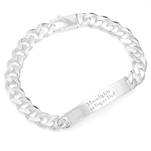 Sterling Silver Curb Link Personalized Bracelets