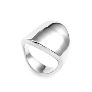 Polished Steel Streamline Engraved Rings