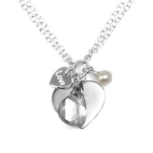 Charming Engraved Sterling Silver Necklace