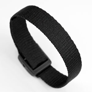 Black Strap for Slide On ID Tags LG Fits 4 - 8 Inch