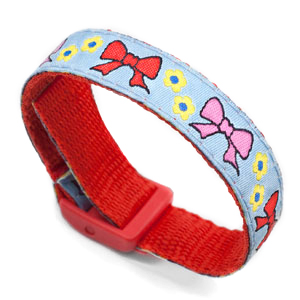 Bows Strap for Slide On ID Tags LG Fits 4 - 8 Inch