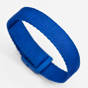 Blue Strap for Slide On ID Tags SM Fits 4 - 6 Inch