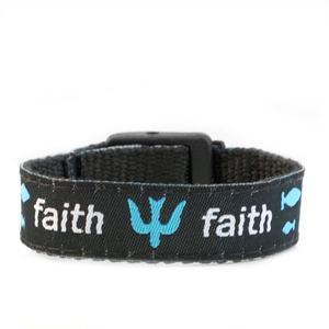 Faith Strap for Slide On ID Tags SM Fits 4 - 6 Inch